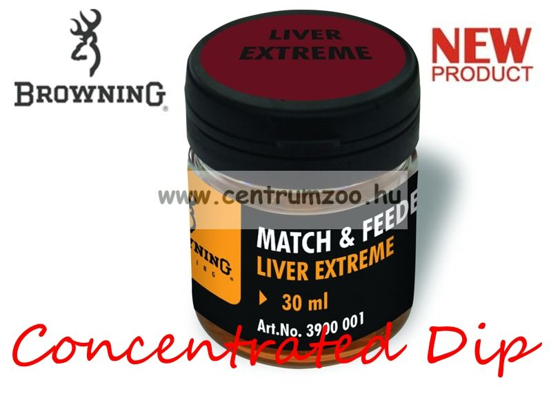 BROWNING Match & Feeder Dip brown Liver Extreme 30ml tömény dip (3900001) - máj