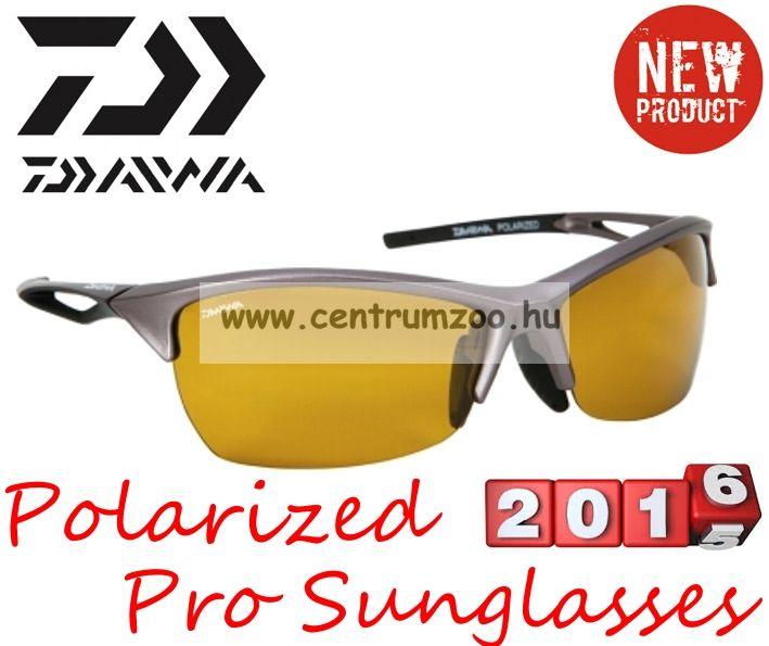 Daiwa Polarized Sunglasses grey frame amb lens modell DPROPSG4 - borostyánszín lencse (202725)
