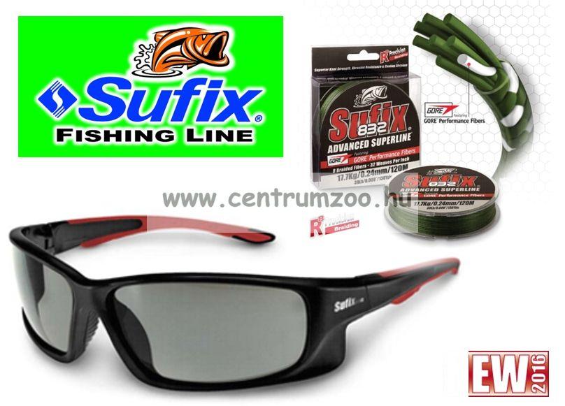 Sufix 832+ Sunglasses fonott zsinór 0.18mm/12kg  zöld 120m + napszemüveg