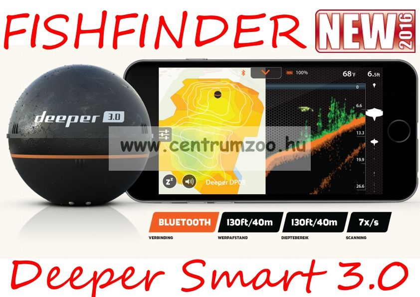 Deeper Smart Fishfinder 3.0.2016 halradar NEW (5351500)