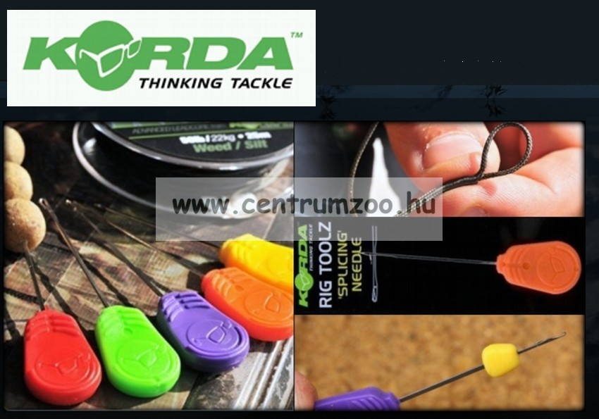 KORDA fűzőtű Heavy Latch Stik Needle Red 12cm (KBNS)