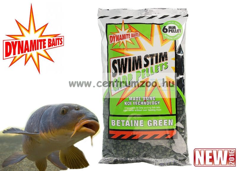 Dynamite Baits Swim Stim Natural Betaine Green pellet 6mm 900g (DY101)