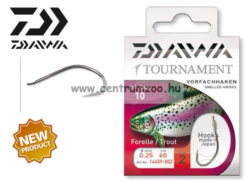 Daiwa Tournament TROUT Snelled Hooks előkötött horog - PISZTRÁNGOS (1459) (14459-0 )