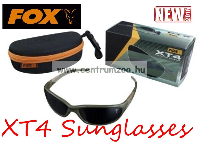 FOX XT4 Sunglasses Green Frame - Grey Lense polar napszemüveg (CSN034)