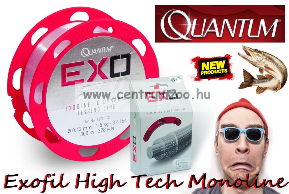 Quantum Exofil Spinning Line 300m 0,30mm 9,00kg transparent superpremium monofil zsinór