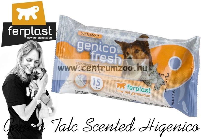 Ferplast Genico Fresh Higenico törlőkendő - TALC - tisztít, fertőtlenít