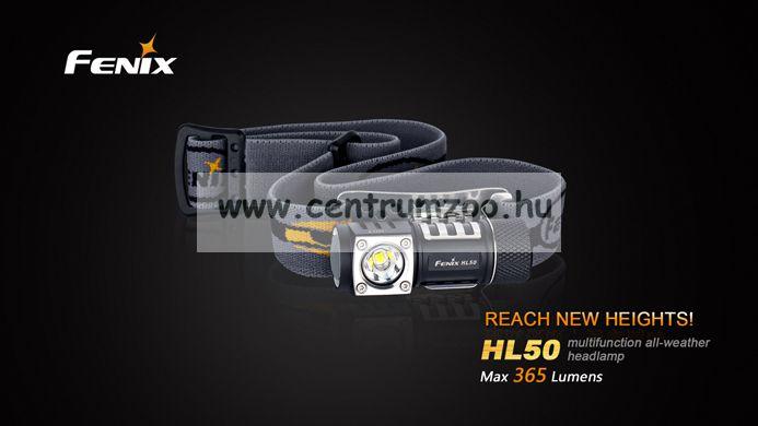FENIX HL50 FEJLÁMPA (365 LUMEN) vízálló (2015NEW)