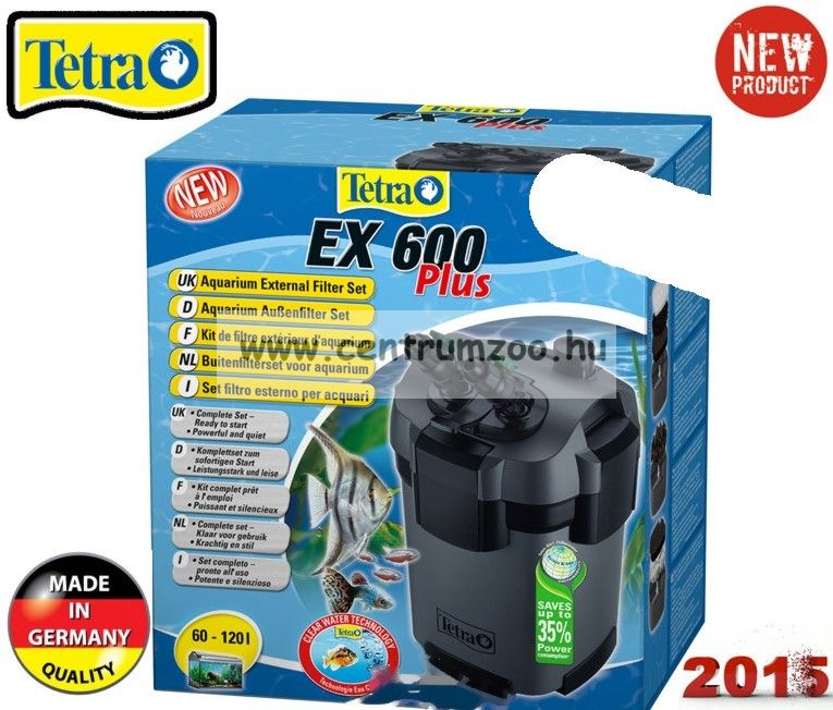 Tetra Tech EX PLUS  600 külsőszűrő 2015NEW 120l-ig