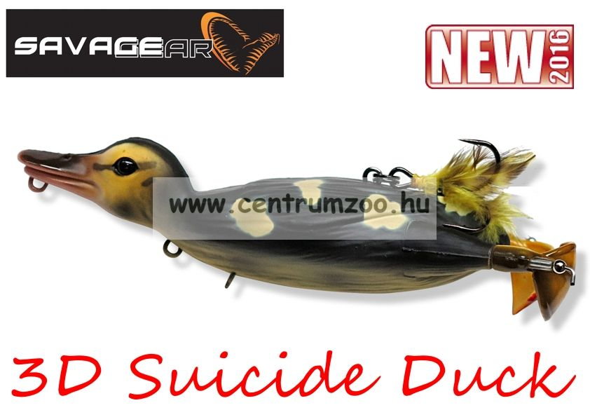 Savage Gear 3D Suicide Duck mű kiskacsa csukára, harcsára 10,5cm 28g (Natural color)