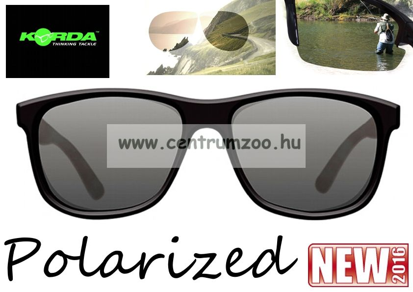 Korda Sunglasses Classics Matt Black Shell- Grey Lens Polarized napszemüveg (K4D06)