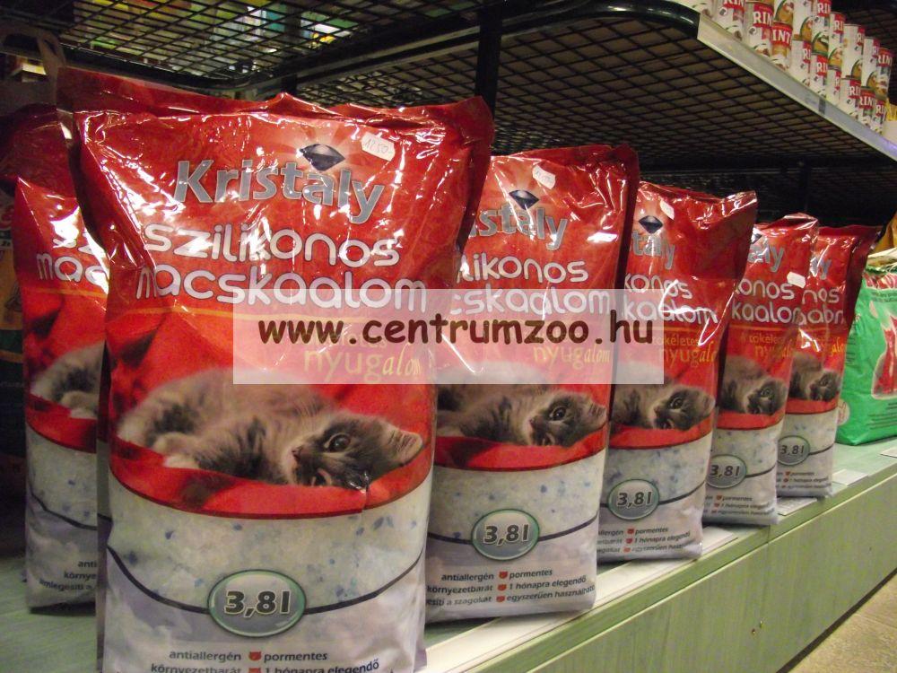 Kristály szilikonos macskaalom 3,8 liter