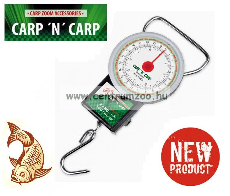 Carp Zoom Round Mechanical Scales - Kerek mechanikus mérleg 22 kg (CZ8580)