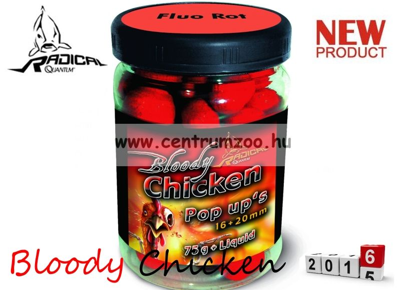 Radical Carp Bloody Chicken Neon Pop Up's 16+20mm 75g (3943050)