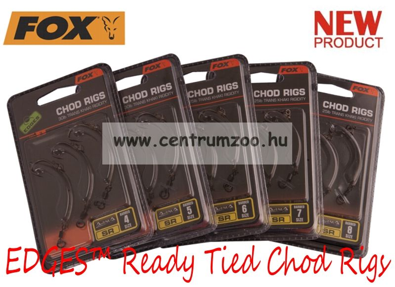 Fox EDGES™ Ready Tied Chod Rigs Size 6 SR barbed 25lb x 3db (CAC622)