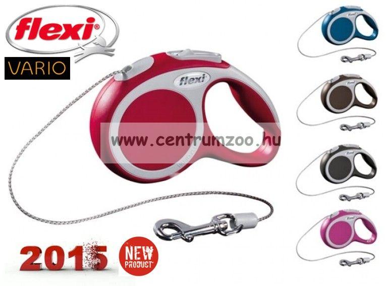 Flexi Vario 2015NEW M RED 8m 20kg automata póráz -PIROS