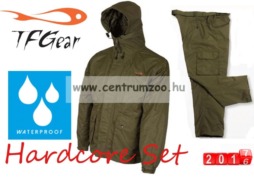TF Gear - HARDCORE WATERPROOF JACKET & Trousers - GREEN - (M - XXL)