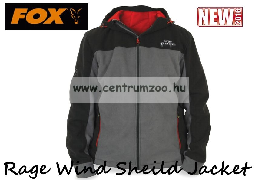 FOX Rage Wind Sheild Jacket Grey KABÁT - Medium  (NPR096)