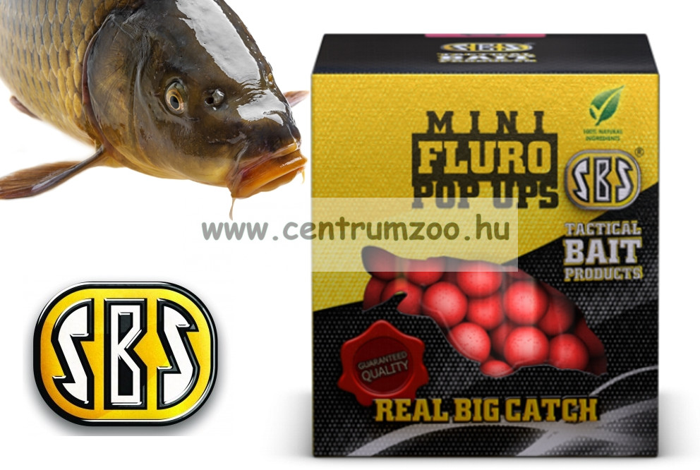 SBS Mini Fluro Pop Ups lebegő mini bojli 20g (12725)