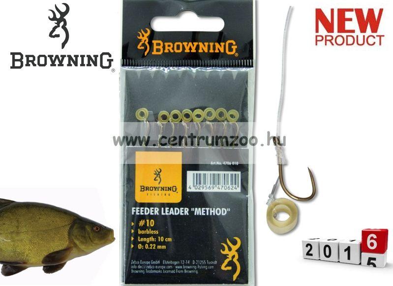 BROWNING Ready Rigs Hooks előkötött horog karikával 12-es méret 0,20mm 8db (4706012)