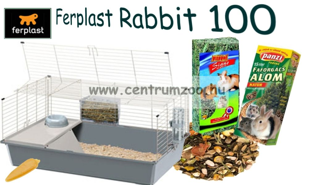 Ferplast Rabbit 100 MEGA PACK New Full felszerelt nyúl ketrec