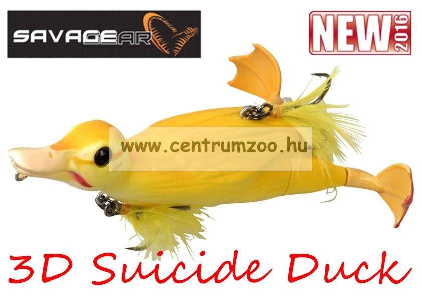 Savage Gear 3D Suicide Duck mű kiskacsa csukára, harcsára 10,5cm 28g (Yellow color)