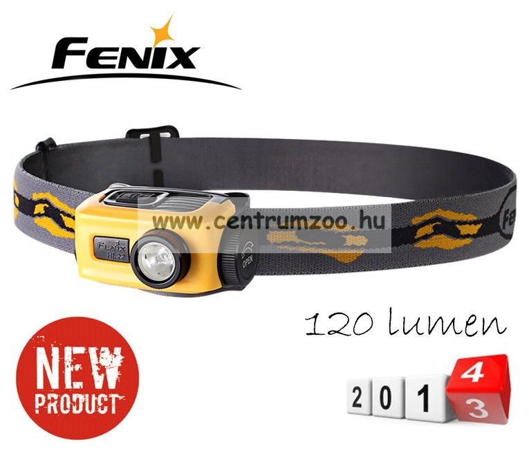 FENIX HL22 FEJLÁMPA (120 LUMEN) vízálló 2014NEW