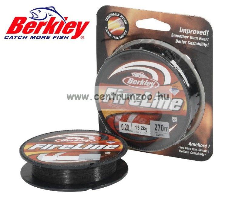 Berkley Fireline Fused Original Flame Smoke 110méter 0,32mm 23,5kg fonott zsinór