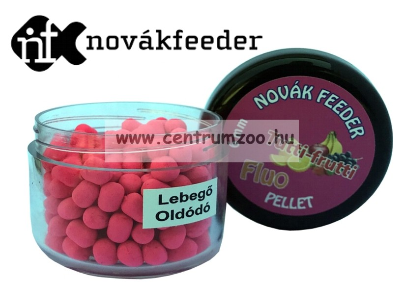 Novák Feeder Fluo pellet 6mm 20g - Tutti-frutti