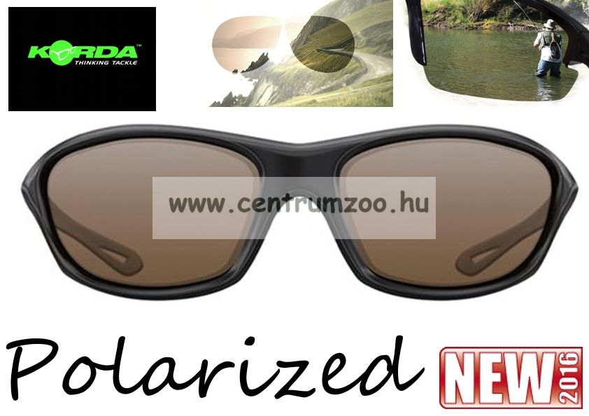 Korda Sunglasses Wraps Gloss Black - Brown Lens Polarized napszemüveg (K4D01)