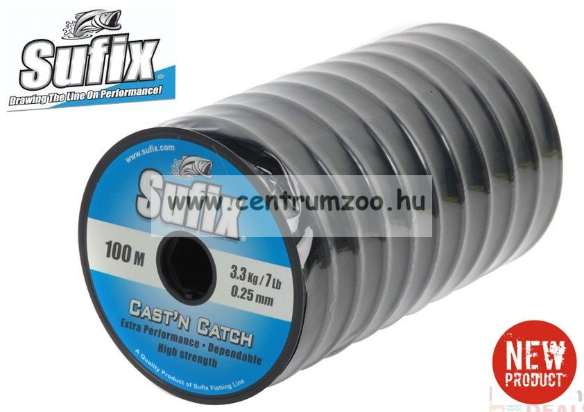Sufix CAST 'N CATCH Performance  gray 100m japán monofil zsinór