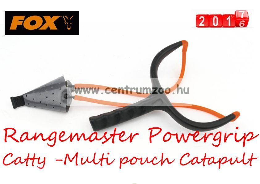 Fox Rangemaster Powergrip Catty -Multi pouch Catapult masszív csúzli  (CPT024)