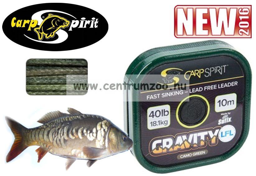 Carp Spirit Gravity SSL 45lbs 20,4kg 10m Camo GREEN - fonott előkezsinór