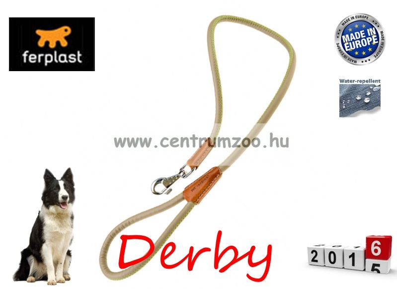 Ferplast Derby G12/110 Beige bőr póráz erős kivitelben