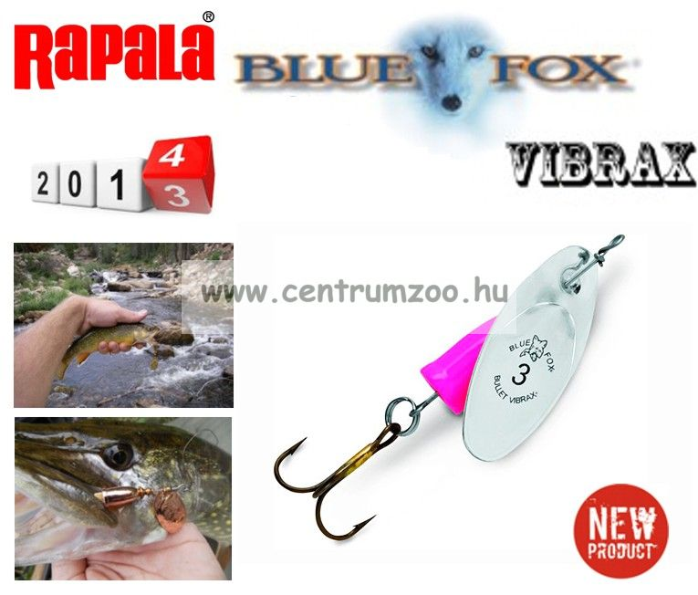 RAPALA BLUE FOX VIBRAX Bullet VB4 villantó