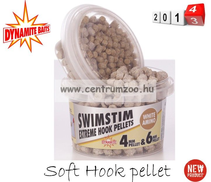 Dynamite Baits SWIM STIM SWEET AMINO WHITE Soft Hook pellet 4 és 6mm (DY219)