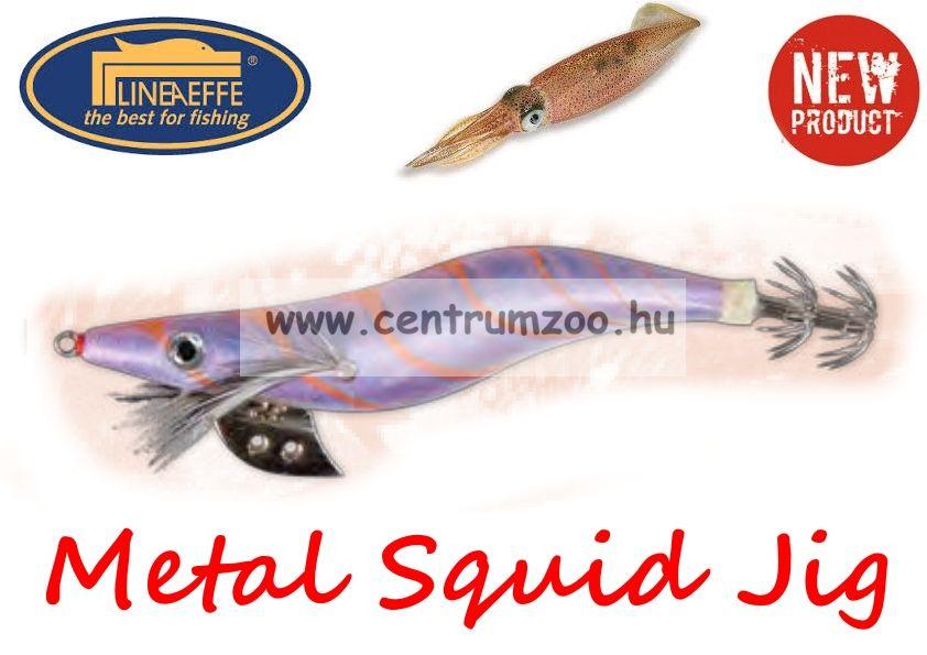 Lineaeffe Super Attractive Metal Squid Jig COLAB-6 tengeri műcsali 7,5cm (5079622) -LILA CSÍKOS