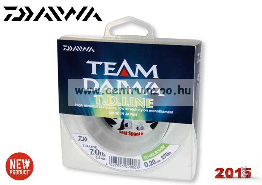 Daiwa TEAM DAIWA T.D. LINE Monofil 270m 0,33mm prémium pergető zsinór (12961-033)