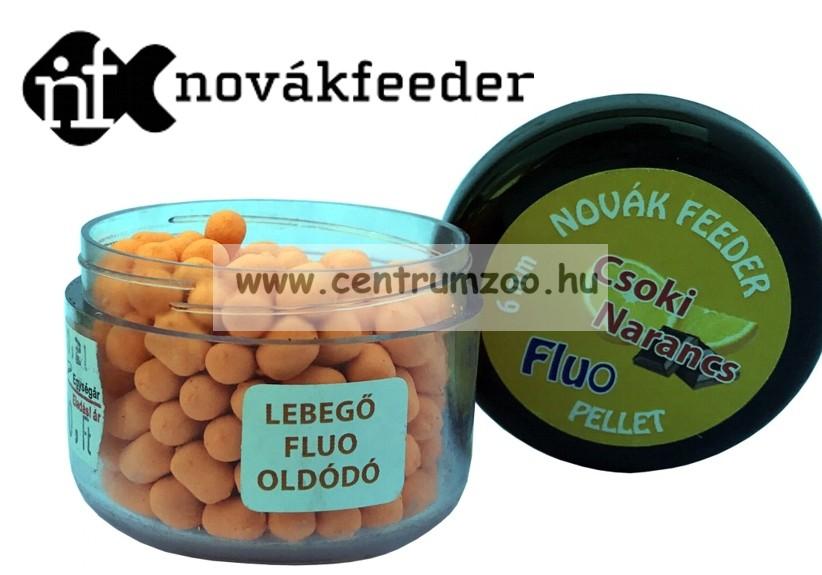 Novák Feeder Fluo pellet 6mm 20g - Csoki-narancs