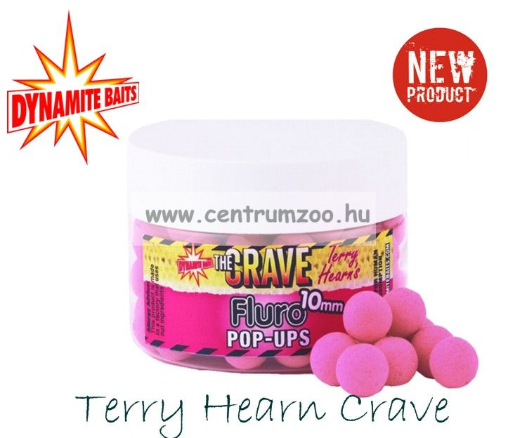 Dynamite Baits Fluro Pop-Up Terry Hearn Crave Pink bojlik (TBC-DY912  913)