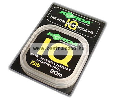 Korda IQ The Intelligent Hooking 20m előke zsinór (KIQ10 15 20 25)