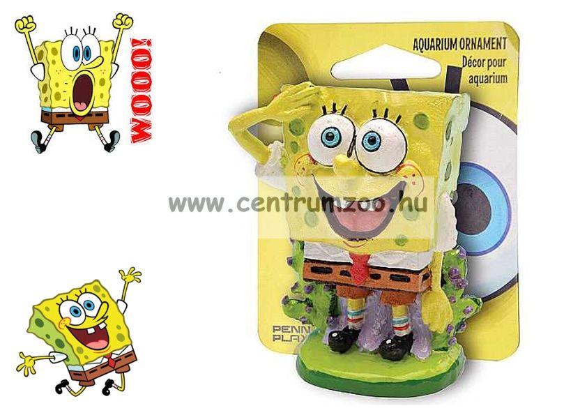 SPONGEBOB Spongyabob Dekoráció SpongyaBob KockaNadrág 5cm akvárium dekorációs szobrocska (040535)