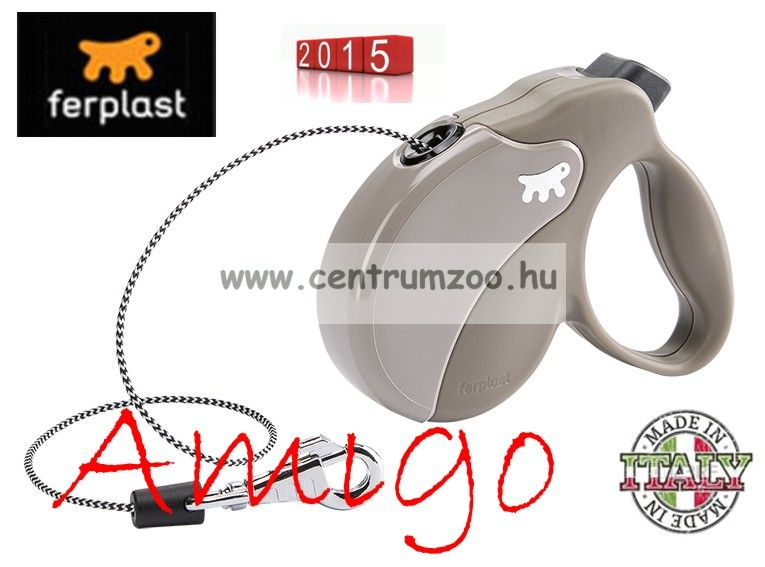Ferplast AMIGO CORD MEDIUM 25kg 5m automata póráz DOVE GREY