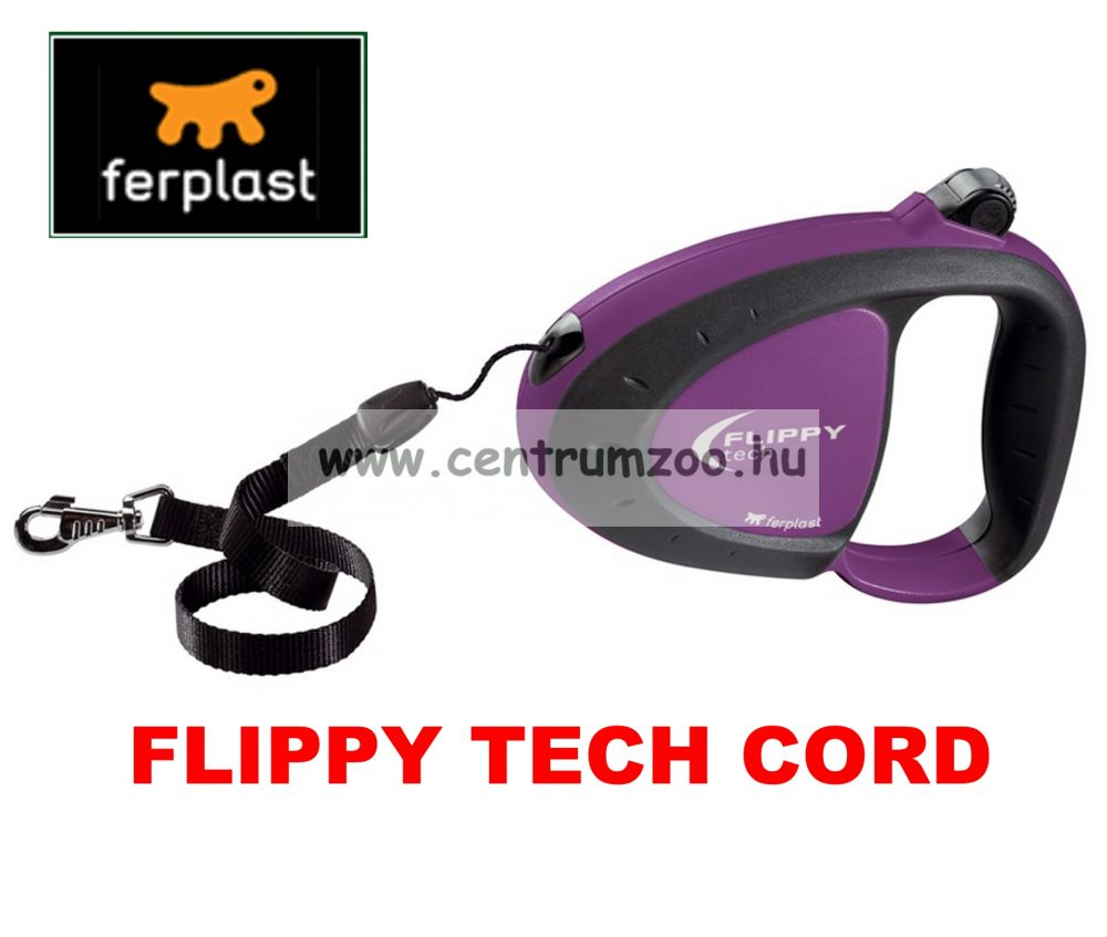 Ferplast Flippy Tech Deluxe Cord Medium Purple Ezsinóros póráz - LILA