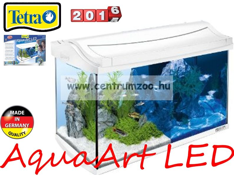 Tetra AquaArt White LED 20l-es komplett prémium fehér akvárium szett