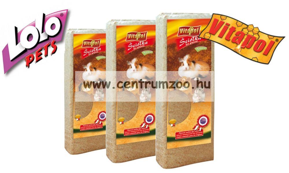 Lolo Pets-Vitapol Rodent préselt forgács alom 3*12 liter