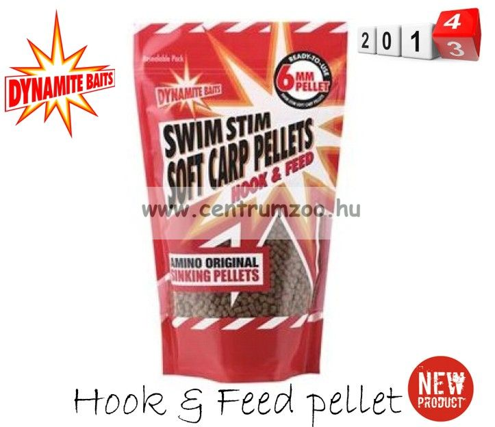 Dynamite Baits Swim Stim Original Hook & Feed Pellet 6mm 500g (DY146 )