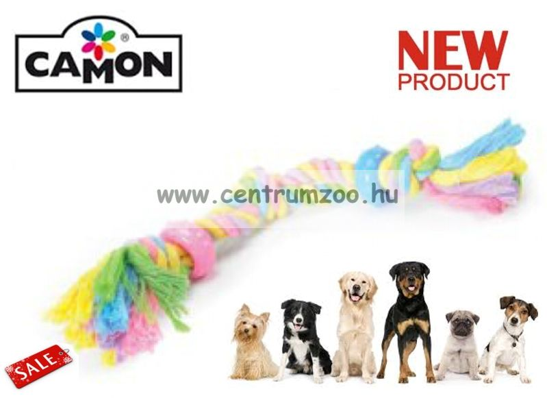 Camon Cotonossi con Inserti in Gomma fogtisztító, izgalmas játék kutyáknak 40cm LARGE (A970/B)