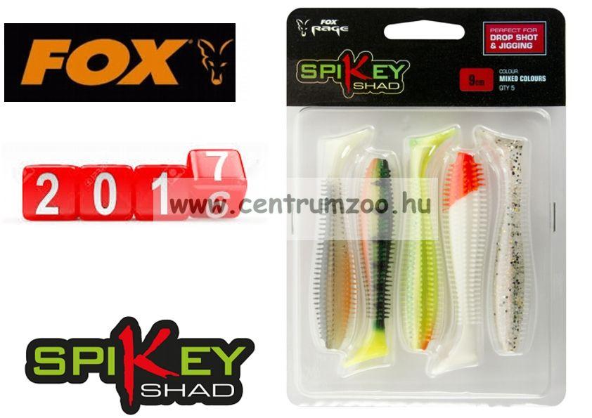 Fox Rage Spikey Shad Mixed Colours  6cm prémium gumihal 5db (NSL833)
