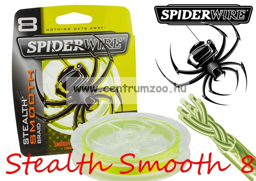SpiderWire Stealth Smooth 8 Braid Yellow 150m 20lb 0,17mm 15,8kg