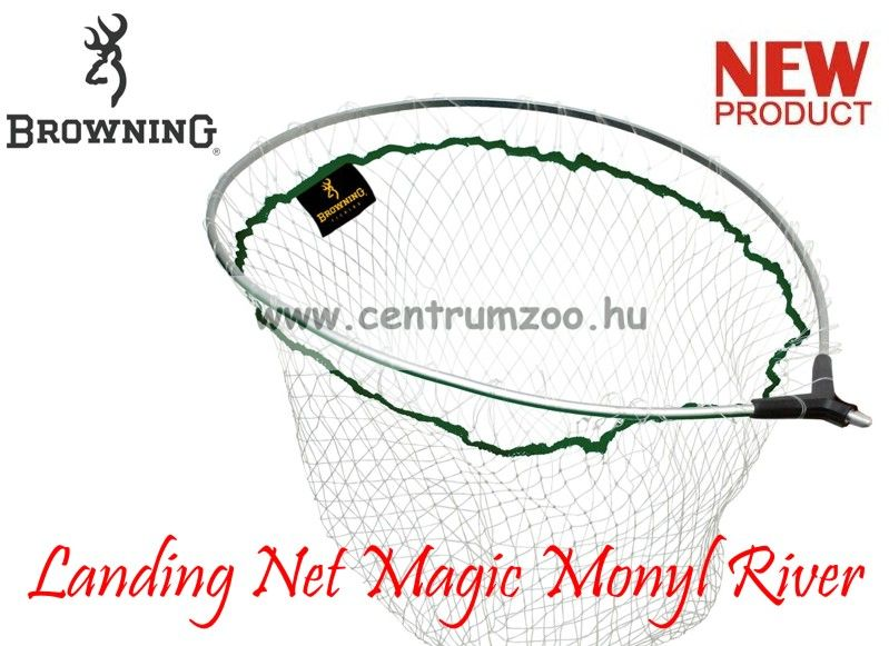 MERÍTŐFEJ  Browning Landing Net Magic Monyl River Scooper L 55x45cm (7029010)